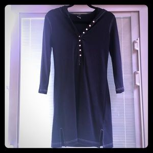 Casual jcrew dress/ cover up with hood